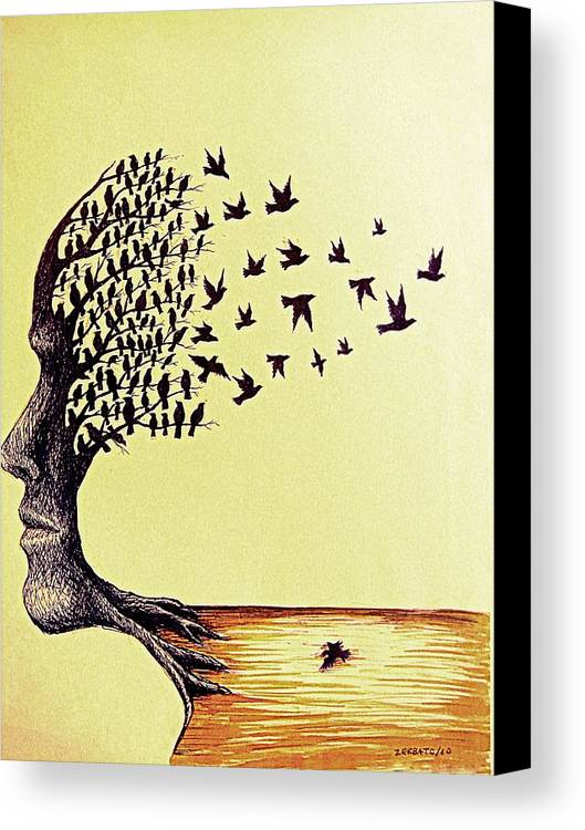 Ideals Canvas Print featuring the digital art Tree Of Dreams by Paulo Zerbato