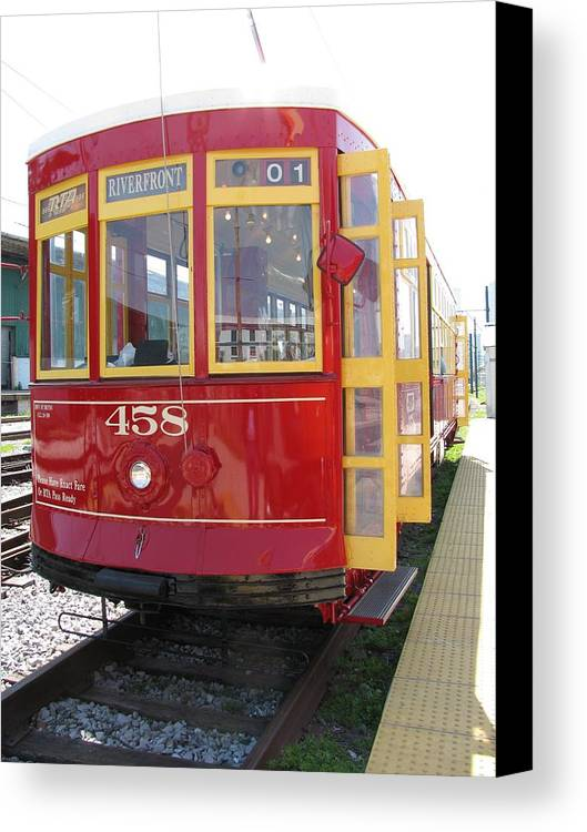 Transportation Canvas Print featuring the photograph Trolley 458 by Steven Parker
