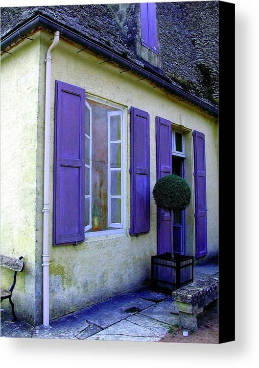Maison Canvas Print featuring the photograph Un Trompe L'oeil by Pascalle Raymond