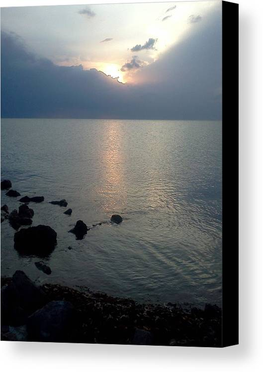 Jetty Canvas Print featuring the photograph View From The Jetty 2 by K Simmons Luna
