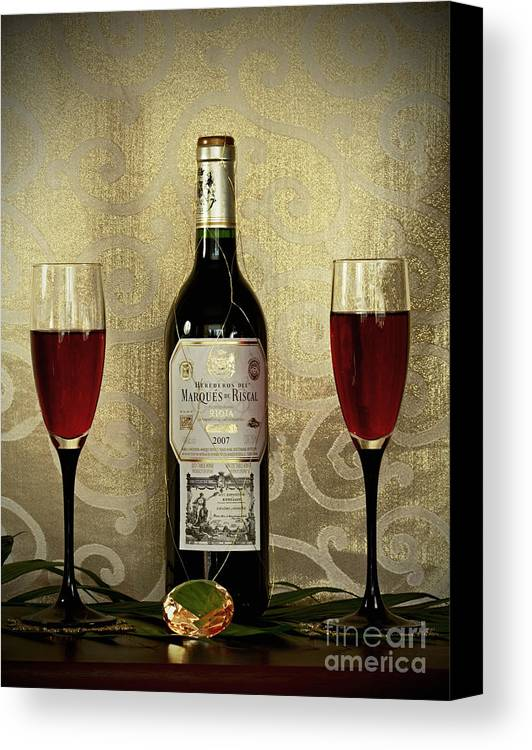Vintage Wine Lovers Canvas Print featuring the photograph Vintage Wine Lovers by Inspired Nature Photography Fine Art Photography