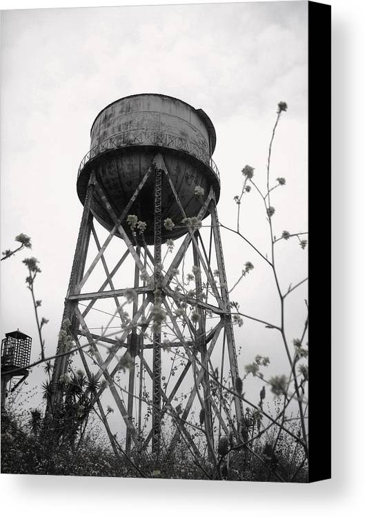 Watertower Canvas Print featuring the photograph Water Tower by Michael Grubb