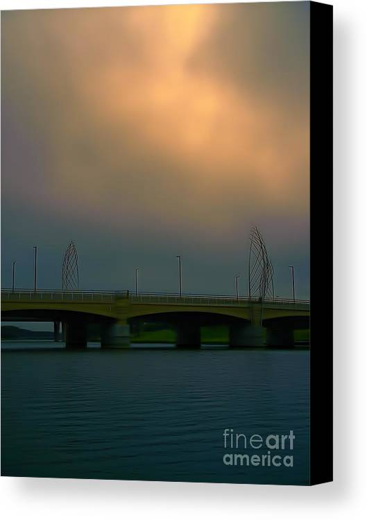 Bridge Canvas Print featuring the photograph Waterman Street Bridge by Jeremy Linot