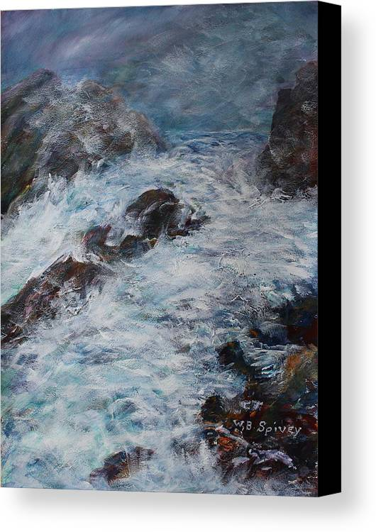 Canvas Print featuring the painting Whitecaps by William Spivey