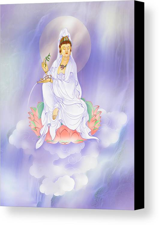 Avalokitesvara Canvas Print featuring the photograph Willow Kuan Yin by Lanjee Chee