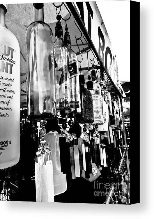 Glassware Canvas Print featuring the photograph Wind Chime B W Version by Fei A