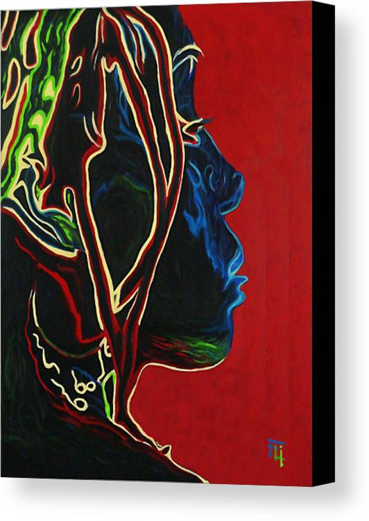 Original Oil On Canvas Canvas Print featuring the painting Womans Essence by Fli Art