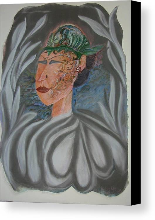 Pastel Canvas Print featuring the painting Tattoo You by Marian Hebert