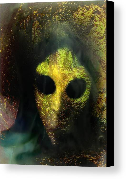 Face Canvas Print featuring the photograph Visitor by Shirley Sirois
