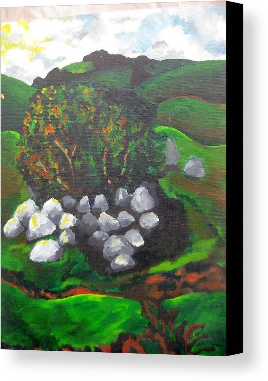 Spring Canvas Print featuring the painting Untitled by Iris Gill