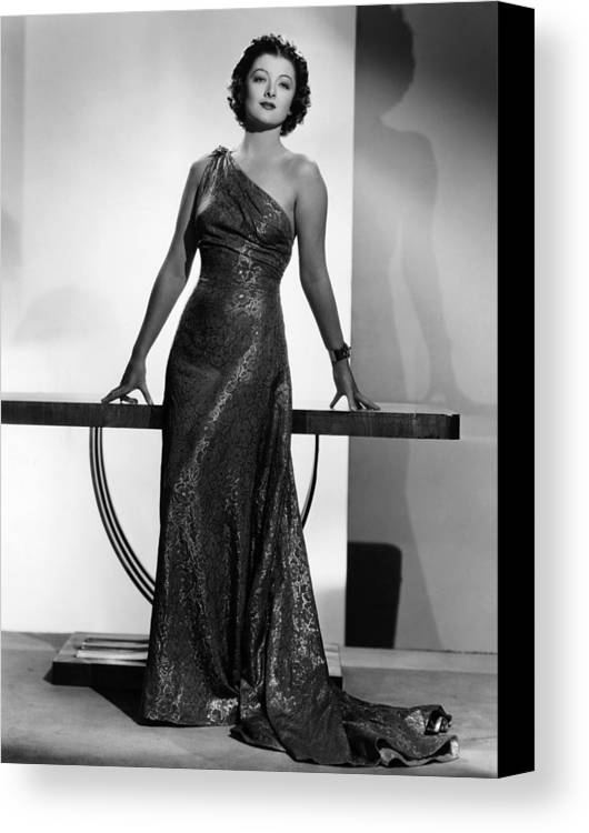 11x14lg Canvas Print featuring the photograph Myrna Loy, Mgm Portrait By Clarence by Everett