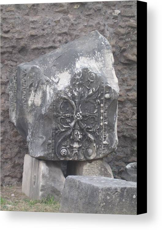 Column Canvas Print featuring the photograph A Ruined Piece by Angela Rose