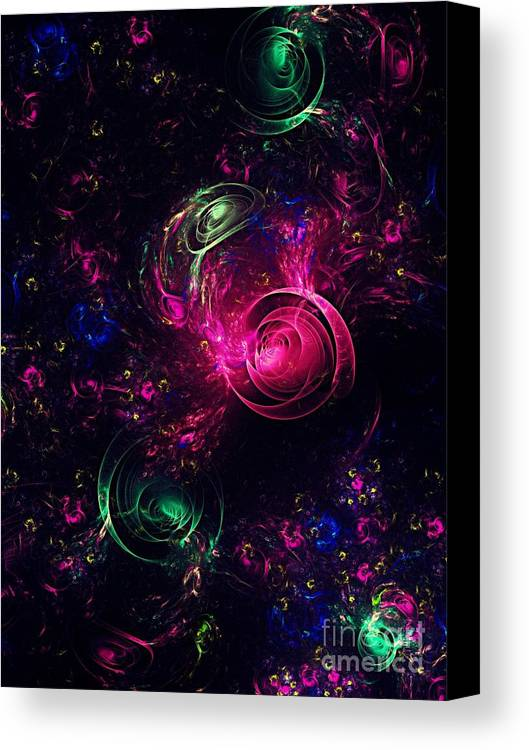 Abstract Canvas Print featuring the digital art Abstract Roses by Klara Acel