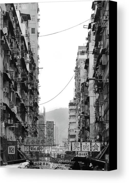 Vertical Canvas Print featuring the photograph Apartment Buildings by All rights reserved to C. K. Chan