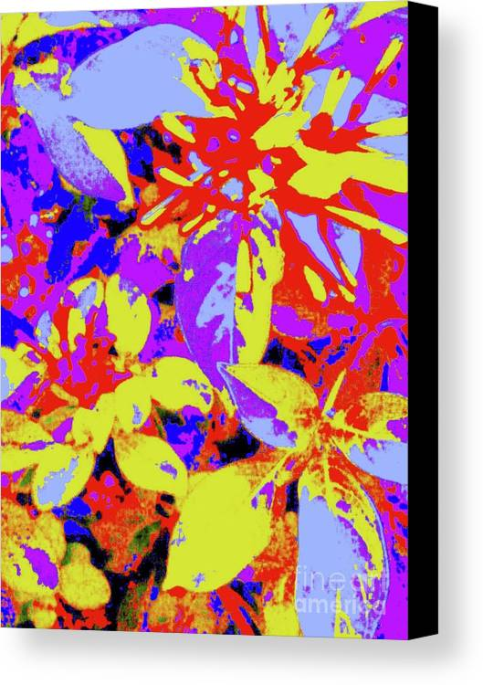 Digital Art Canvas Print featuring the digital art Bee Flowers 13a by Nina Kaye
