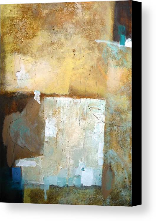 Abstract Canvas Print featuring the painting Better Than... by Teofana Zaric