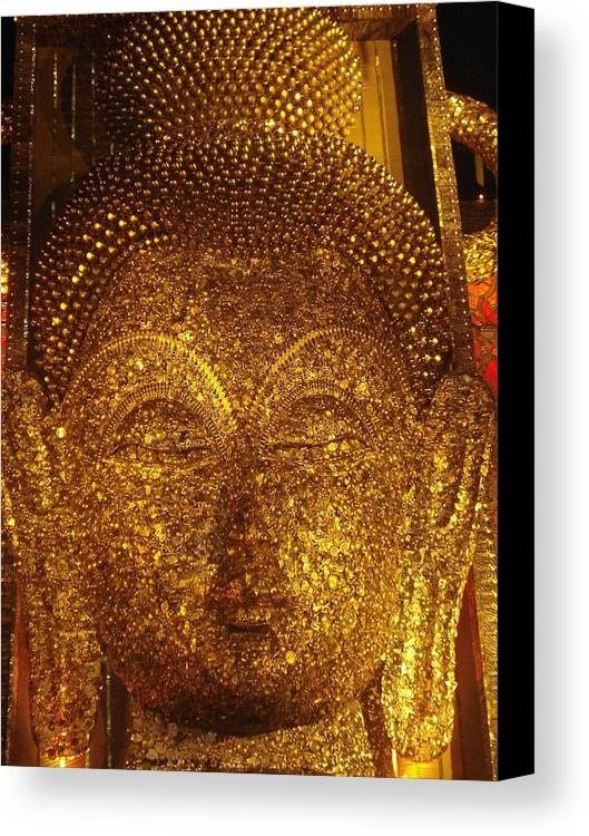 Installation Art Canvas Print featuring the sculpture Buddha by Prasenjit Dhar