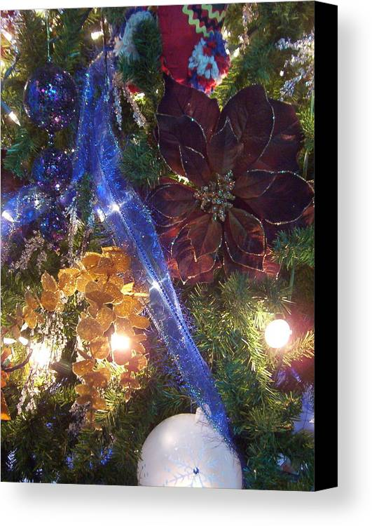 Christmas Canvas Print featuring the photograph Christmas Lights by Elizabeth MacKinney