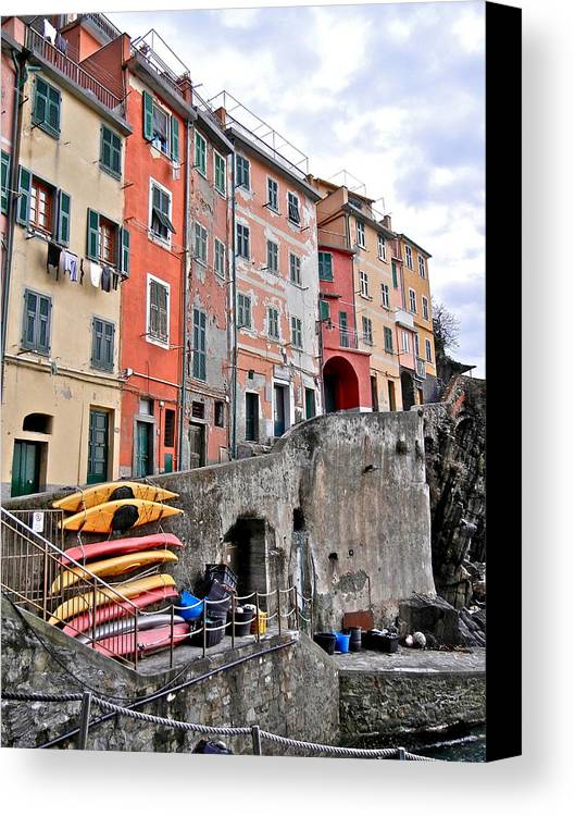 Cinque Terre Canvas Print featuring the photograph Cinque Terre Vi by David Ritsema