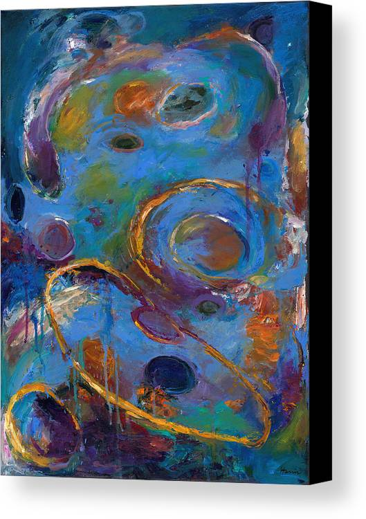Abstract Expressionistic Canvas Print featuring the painting Cosmos 237 by Johnathan Harris