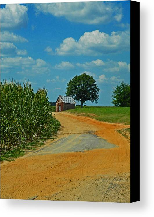 Country Road Canvas Print featuring the photograph Country Road by Hannah Pickens