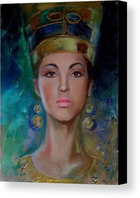 Art Canvas Print featuring the painting Egyptian Princess by Nelya Shenklyarska