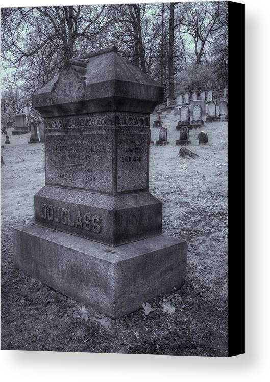 Frederick Douglass Canvas Print featuring the photograph Frederick Douglass Grave One by Joshua House