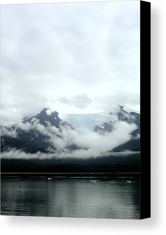 Mountains Canvas Print featuring the photograph Glacier Mountain by Mindy Newman