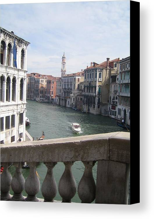 Venice Canvas Print featuring the photograph Grand Canal From A Bridge by Angela Rose
