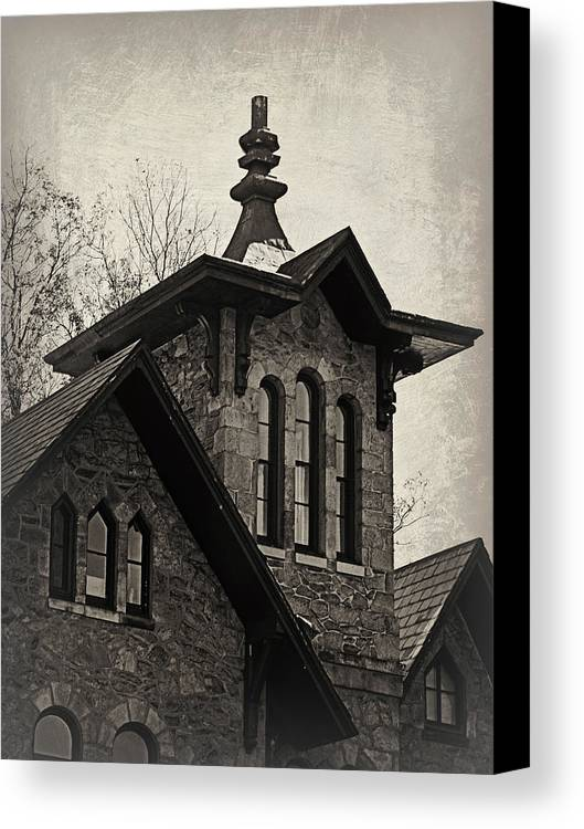 Old Canvas Print featuring the photograph Haunted House 2 by Brenda Conrad