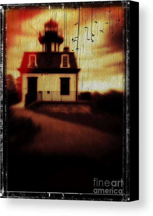Halloween Canvas Print featuring the photograph Haunted Lighthouse by Edward Fielding