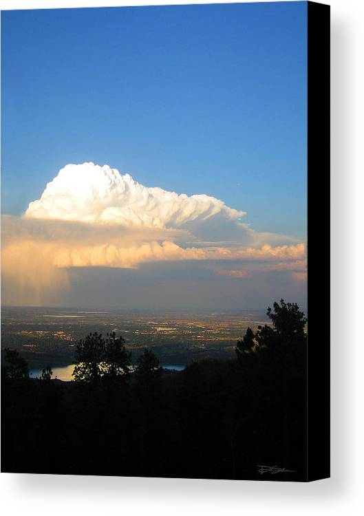 High Plains Thunderhead Canvas Print featuring the photograph High Plains Thunder by Ric Soulen