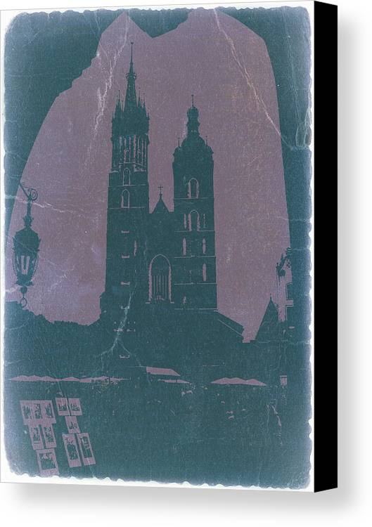 Krakow Canvas Print featuring the photograph Krakow by Naxart Studio