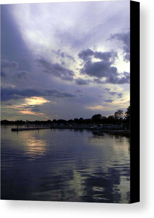 Lake Canvas Print featuring the photograph Lake Dora Twilight by Christy Usilton