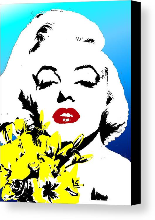 Portrait Canvas Print featuring the painting Marylin Monroe by Jann Paxton