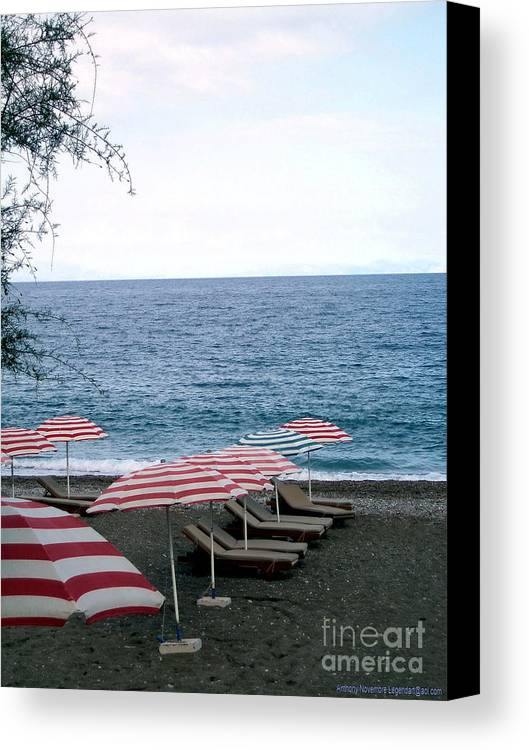 Beach Canvas Print featuring the photograph Mediterranean Beach Time by Anthony Novembre
