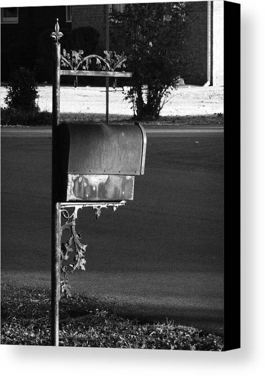 Tennessee Canvas Print featuring the photograph Murfreesboro Mailbox by Debbie Johansson