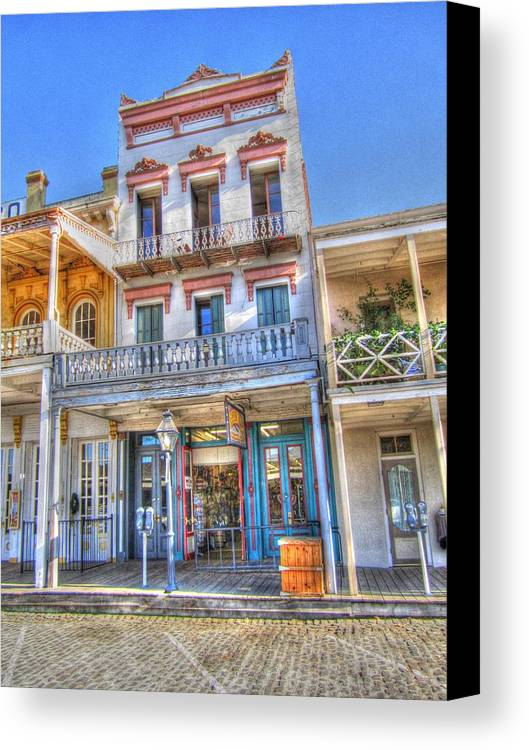 Old Town Sacramento Canvas Print featuring the photograph Old West Architecture by Barry Jones