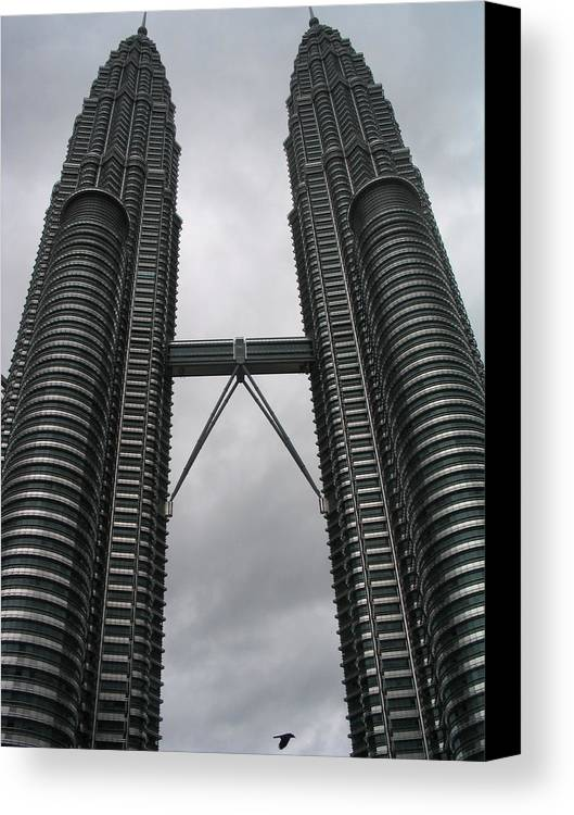 Malaysia Canvas Print featuring the photograph Petros Towers Surreal by Robert M Brown II