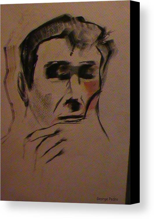 Portrait Canvas Print featuring the painting Portrait Of Frank Frazetta by George Pedro