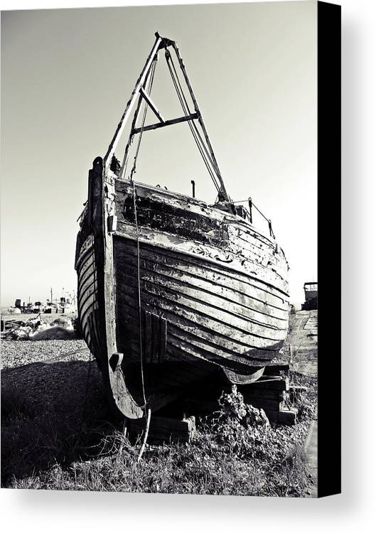 Fishing Boat Canvas Print featuring the digital art Retired Fishing Boat by Sharon Lisa Clarke