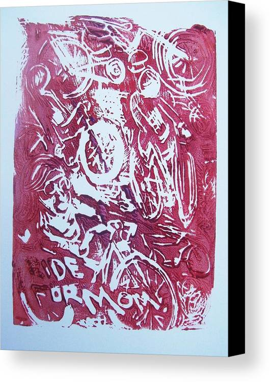 Ride For Mom Canvas Print featuring the painting Ride For Mom by James Christiansen