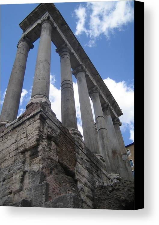Rome Canvas Print featuring the photograph Ruined Columns by Angela Rose