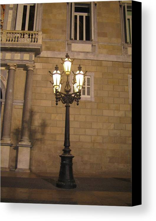 Light Canvas Print featuring the photograph Spanish Street Light by Angela Rose
