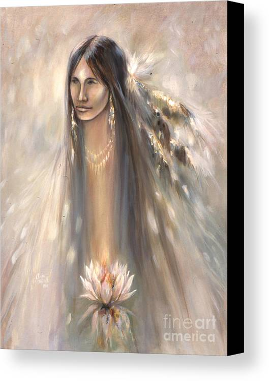 Spirit Canvas Print featuring the mixed media Spirit Woman by Charles B Mitchell