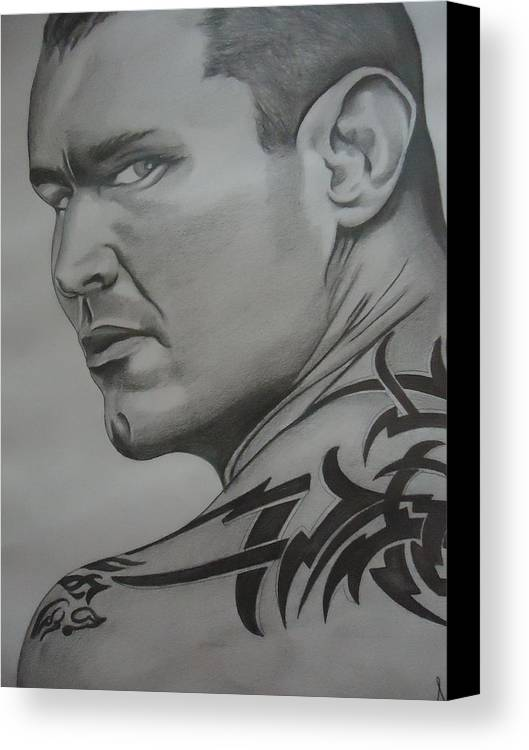 Tattoo Canvas Print featuring the drawing Tattoo by Akshay Matha