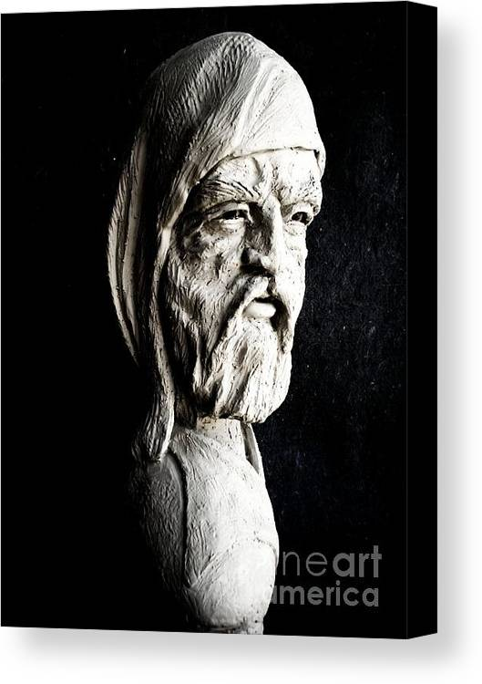 Sculpture Canvas Print featuring the sculpture The Artist by Wayne Niemi