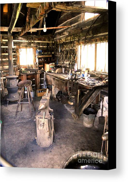 Al Bourassa Canvas Print featuring the photograph The Blacksmith Shop by Al Bourassa