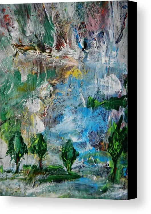 Canvas Print featuring the painting Vision by Marina R Raimondo