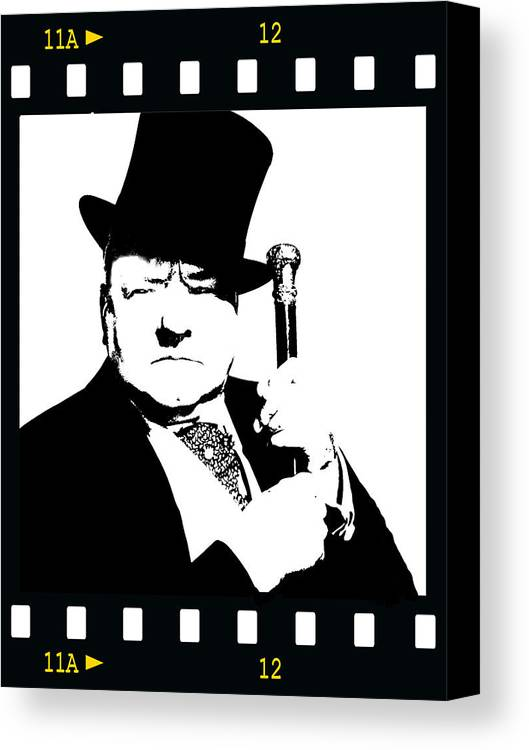 Actor Canvas Print featuring the painting W. C. Fields by Jann Paxton